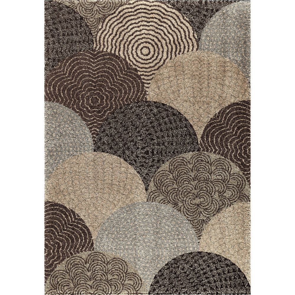 Orian Rugs Oystershell Seal Black 5 ft. 3-inch x 7 ft. 6-inch Indoor Area Rug