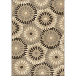 Orian Rugs Springtime Gray 5 ft. 3-inch x 7 ft. 6-inch Indoor Area Rug