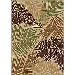 Orian Rugs Bungalow Palms Bisque 5 ft. 2-inch x 7 ft. 6-inch Outdoor Area Rug