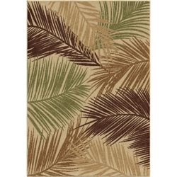 Orian Rugs Bungalow Palms Bisque 7 ft. 8-inch x 10 ft. 10-inch Outdoor Area Rug