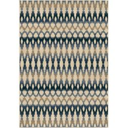 Orian Rugs Ikat Ombre Seashell 5 ft. 2-inch x 7 ft. 6-inch Outdoor Area Rug