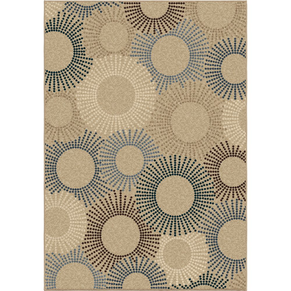 Orian Rugs Ray of Light Driftwood 5 ft. 2-inch x 7 ft. 6-inch Outdoor Area Rug