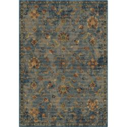 Orian Rugs Alana Field Blue 5 ft. 3-inch x 7 ft. 6-inch Indoor Area Rug