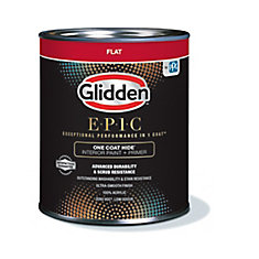 EPIC One Coat Hide Interior Paint + Primer Flat White 916 mL