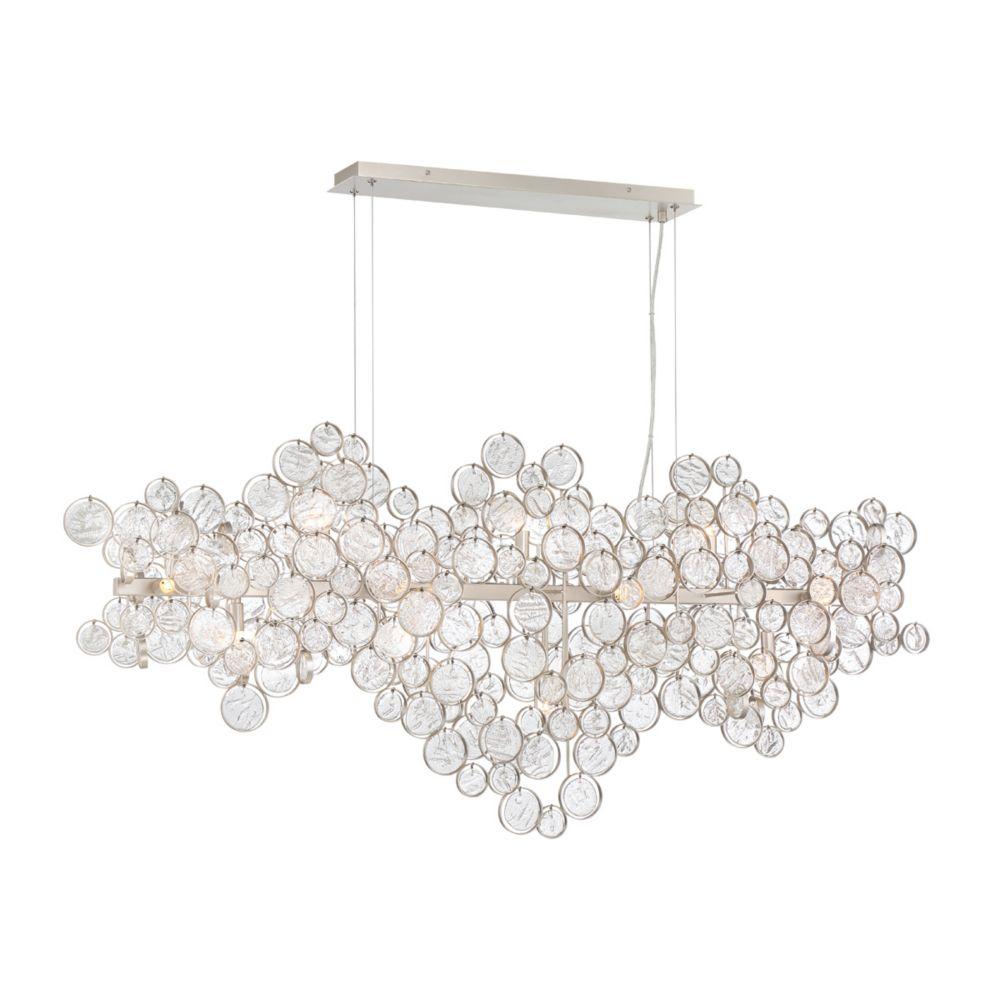 Eurofase Trento Clustered Glass 15-Light Oval Chandelier - 34032-015