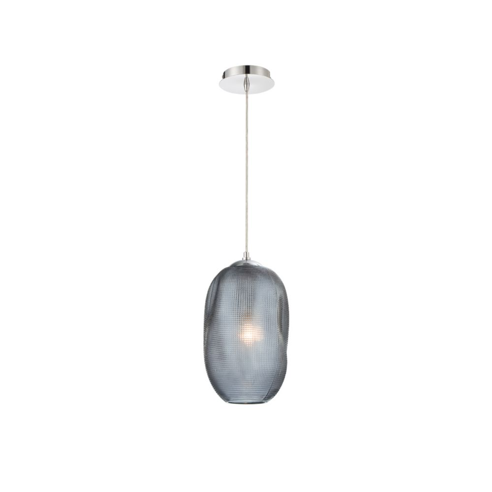 Eurofase Labria Small Gl Pendant Light Fixture In Smoke