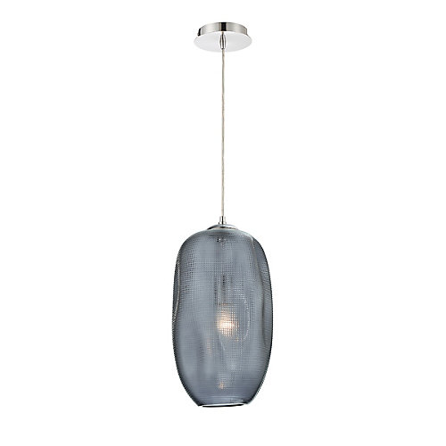 Labria Large Glass Pendant Light Fixture in Smoke