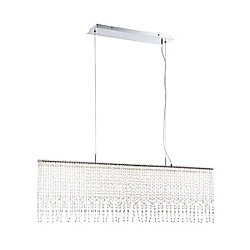 Eurofase Atwater Hand-Beaded Large Linear LED Chandelier - 34043-011