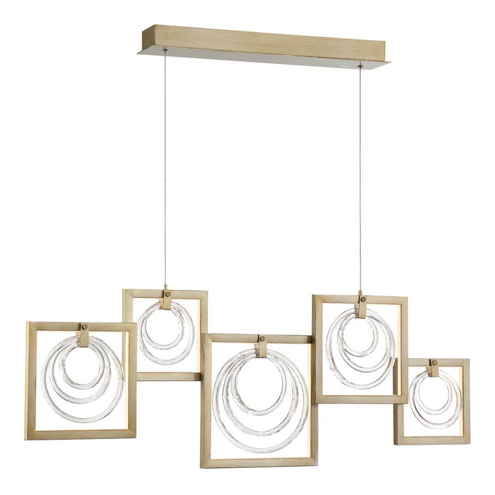 Eurofase Corinna Glass Rings 5-Light LED Linear Chandelier - 34055-014