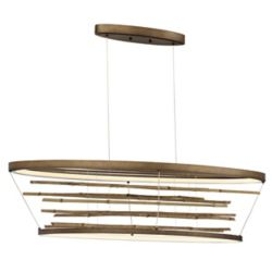 Eurofase Bobina Bamboo Small Oval LED Chandelier - 34060-018