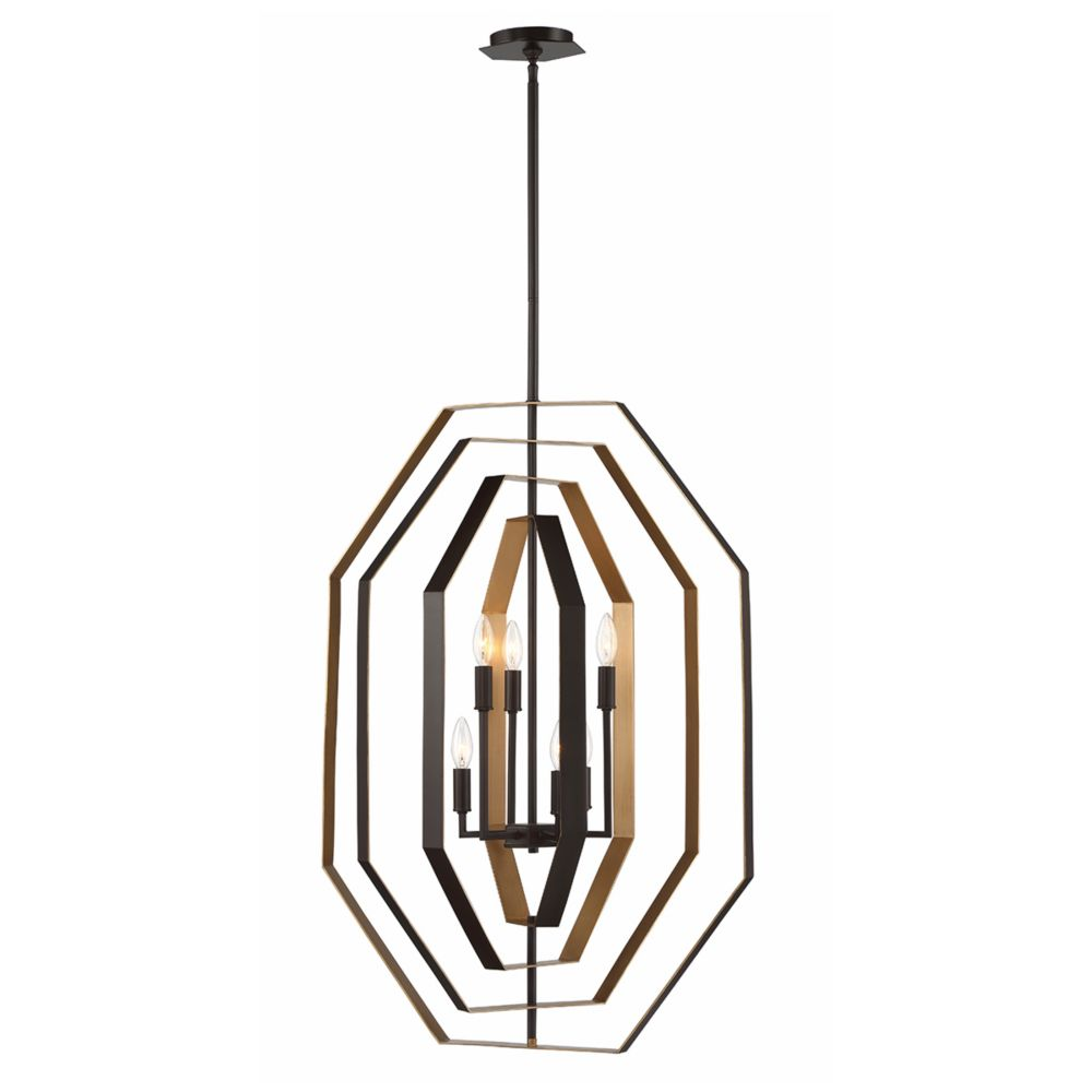 Eurofase Montcalm Customizable Octagon 6-Light Chandelier - 34076-019