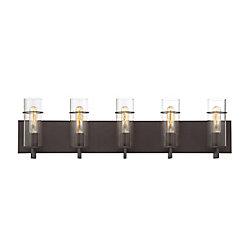 Eurofase Luminaire de meuble-lavabo Pista à 5ampoules, bronze - 34136-027