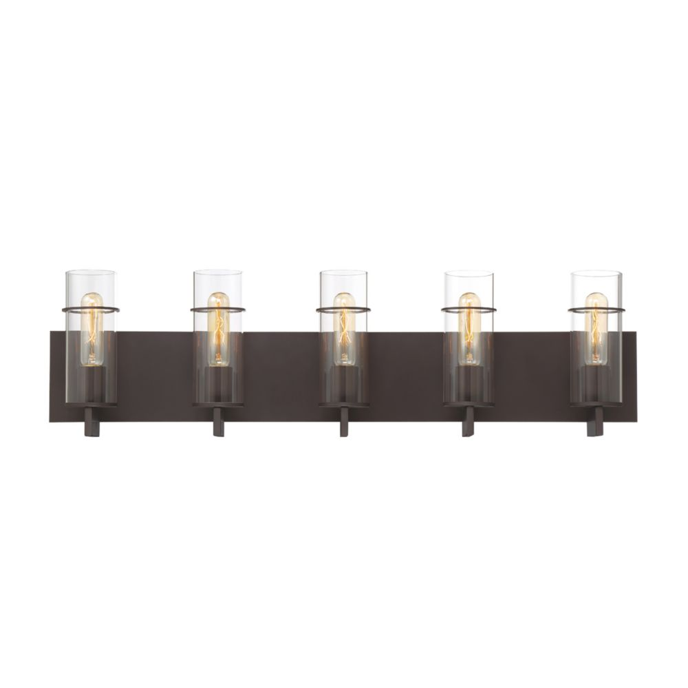 Eurofase Pista 5-Light Vanity Light in Bronze - 34136-027