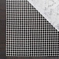 Grid Cream 8 ft. x 8 ft. Round Non-Slip Surface Rug Pad