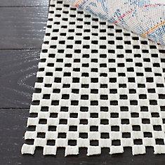 Grid White 6 ft. x 6 ft. Round Non-Slip Surface Rug Pad