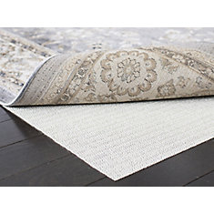 Ultra White 6 ft. x 6 ft. Round Non-Slip Surface Rug Pad