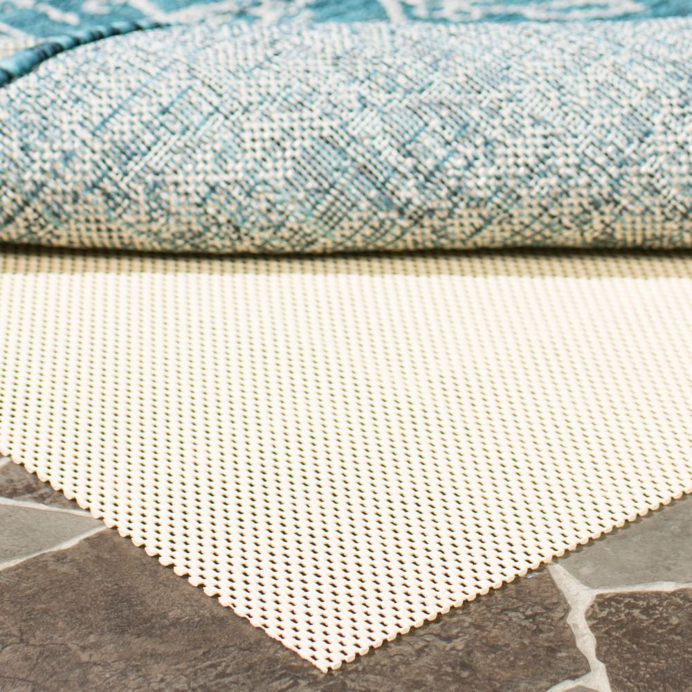 Outdoor Area Rug Pad: Safavieh Outdoor Cream 2 Ft. X 8 Ft. Non-Slip Surface Rug