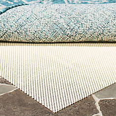 Outdoor Cream 2 ft. x 8 ft. Non-Slip Surface Rug Pad