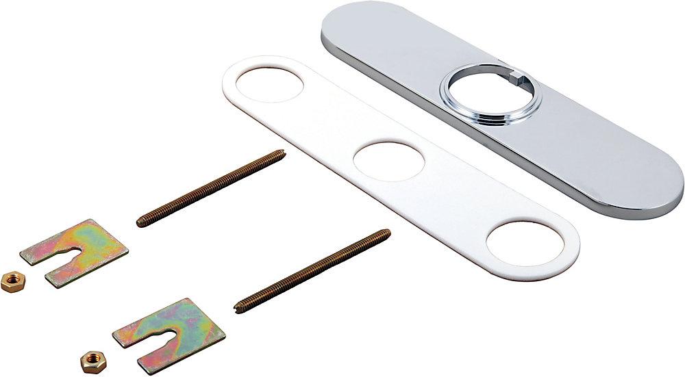 Escutcheon & Gasket - 8 inch Chrome