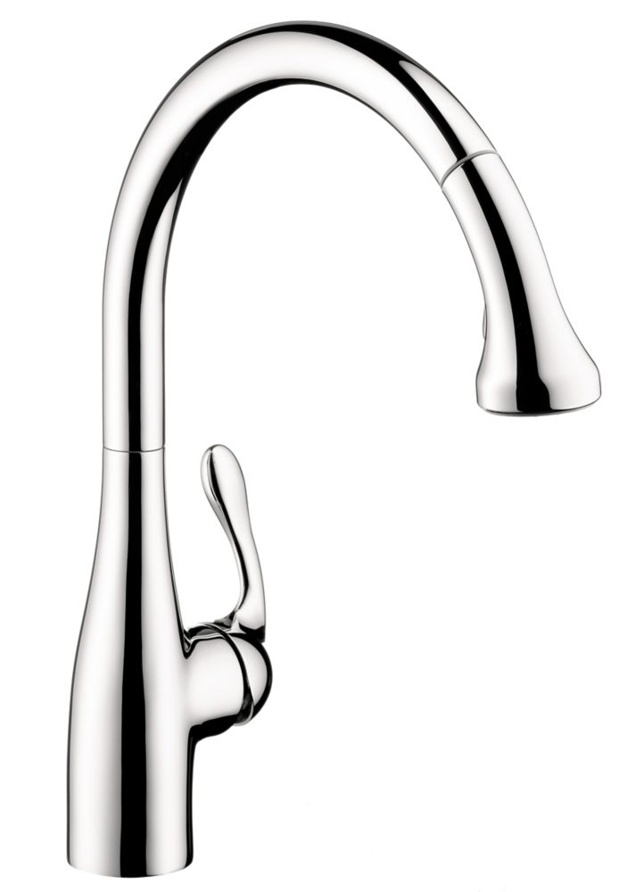 Hansgrohe Allegro E Gourmet 2-Spray SemiPro Pull-Down Kitchen Faucet, Chrome
