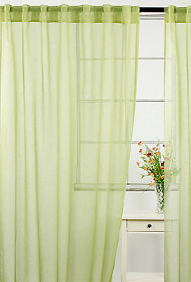 LJ Home Fashions Whisper Sheer Rod Pocket Curtain Panels Set Of 2 54 X 88 Inch Vintage Green