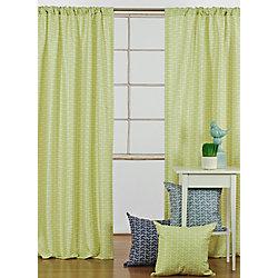 LJ Home Fashions Chevron Print Rod Pocket Curtain Panels 52 x 95-inch Green/White (Set of 2)