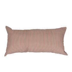 LJ Home Fashions Design rayures coton 12 x 20 po  Lin Beigge/Rouge