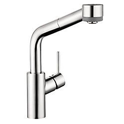 Hansgrohe Talis S 2-Spray SemiArc Pull-Out Kitchen Faucet, Chrome