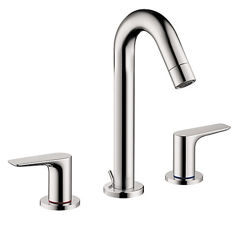 Hansgrohe Logis 150 Widespread Lavatory Faucet, Chrome | The Home ...