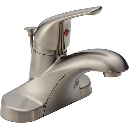 Single Handle Lavatory Faucet in Brushed Nickel