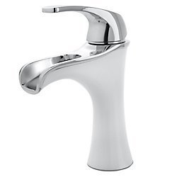 Pfister Jaida Singel Control Bathroom Faucet in Polished Chrome/ White