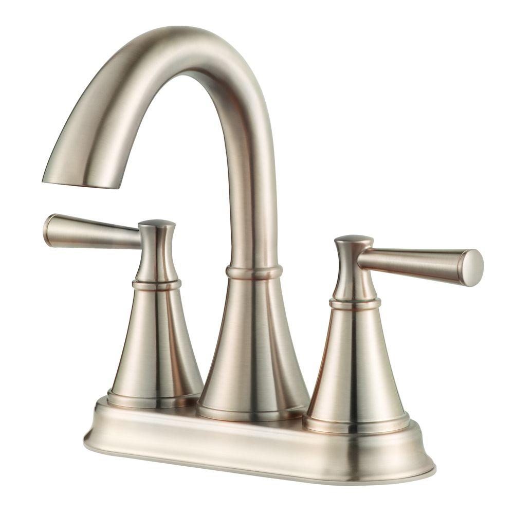 Pfister Cantara 2 Handle Bathroom Faucet in Brushed Nickel