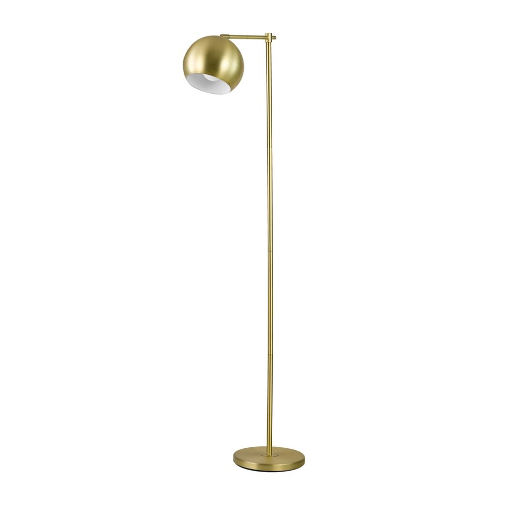 Globe Electric Molly 60-inch Floor Lamp in Gold Finish with In-Line On-Off Switch