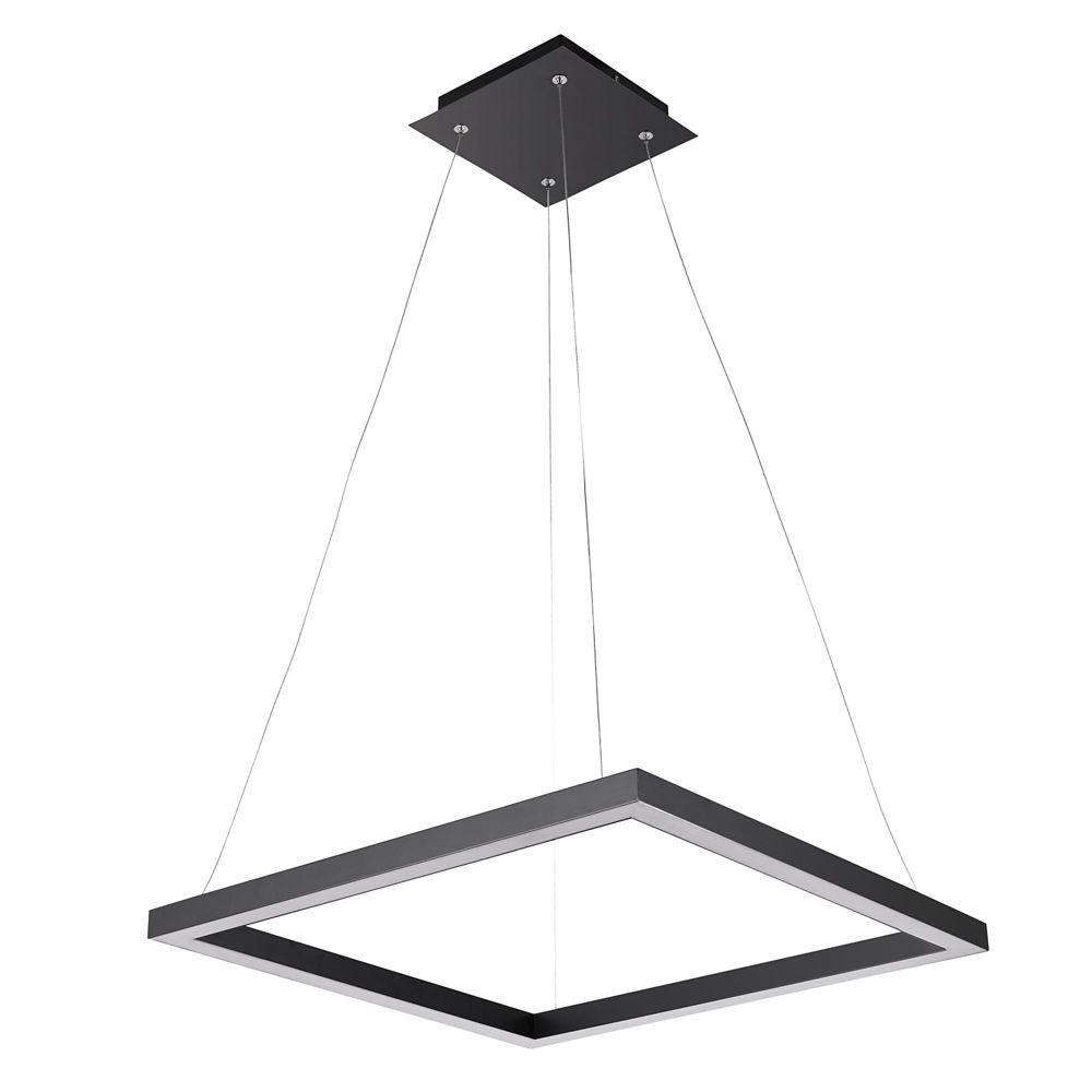 Globe Electric Draper 30W Integrated LED Matte Black Pendant Light Fixture