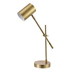 Lampe de bureau en laiton mat de 20 po, collection Pratt