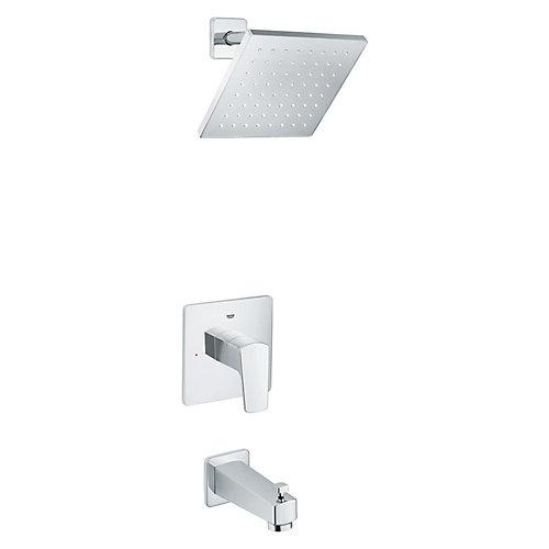 Robinet Tallinn à mode de pulvérisation unique pur baignoire et douche (robinetterie brute incluse)