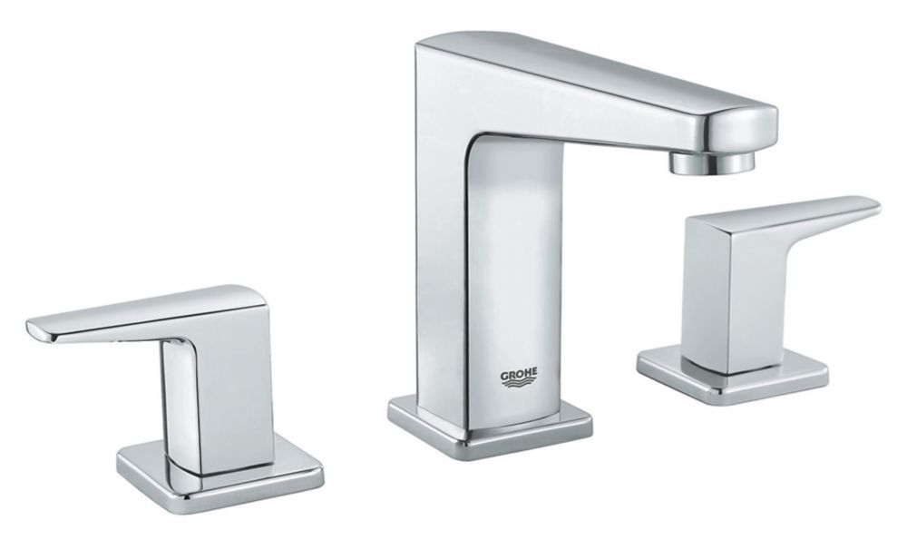 Tallinn 8-inch Widespread Two-Handle Bathroom Faucet in Starlight Chrome