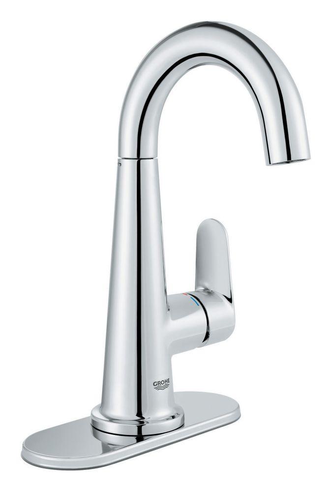 Veletto Single Handle Centerset Bathroom Faucet in StarLight Chrome Finish