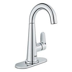 GROHE Veletto Single Handle Centerset Bathroom Faucet in StarLight Chrome Finish