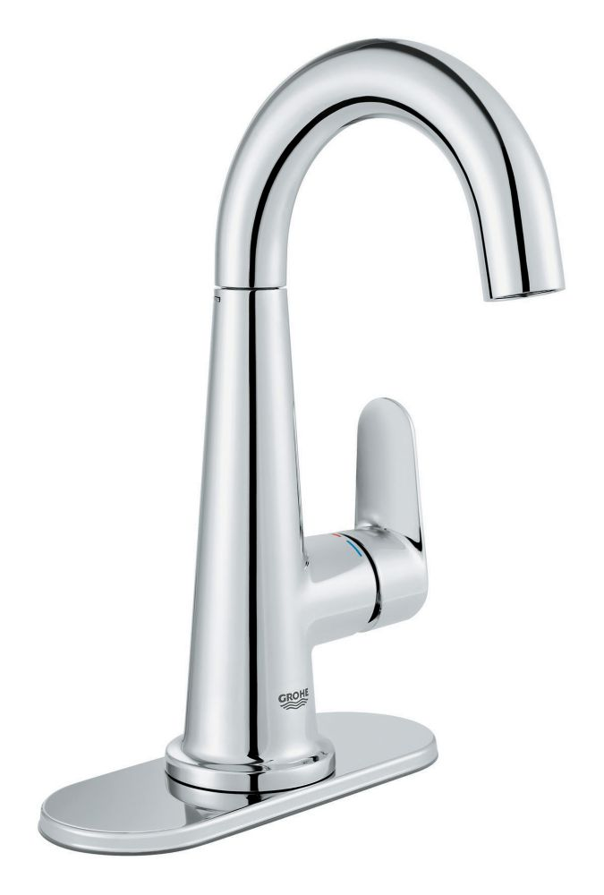 GROHE Veletto Single Handle Centerset Bathroom Faucet in StarLight Chrome Finish