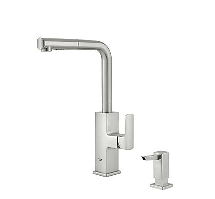 GROHE Tallinn Single-Handle Pull-Out Spray Kitchen Faucet in ...