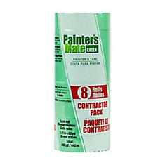 Ruban de peintre  Vert, paquet de 8, 3,6cm x 55m (1,41po x 60v)