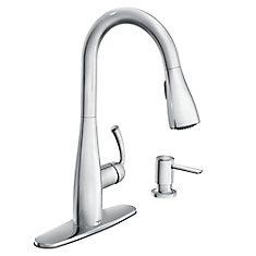 Essie Single-Handle Pull-Down Sprayer Kitchen Faucet with Reflex in Chrome