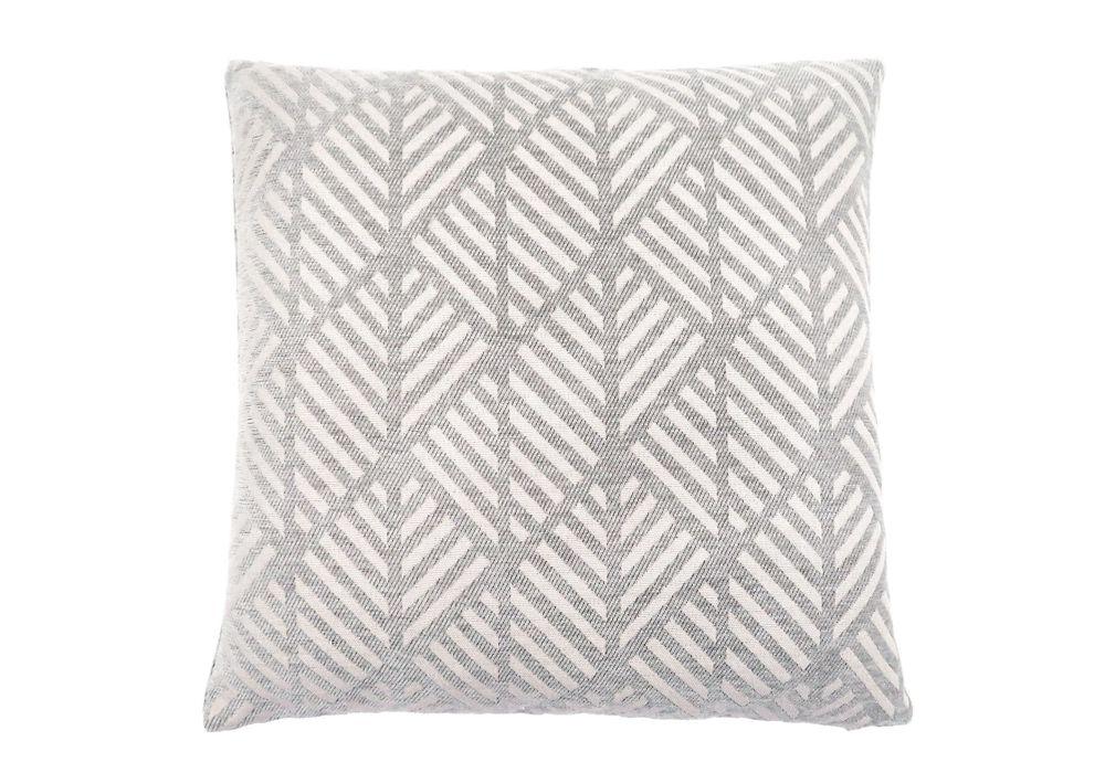 Monarch Specialties 18-inch x 18-inch Light Grey Geometric Design Pillow