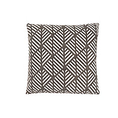18-inch x 18-inch Dark Taupe Geometric Design Pillow