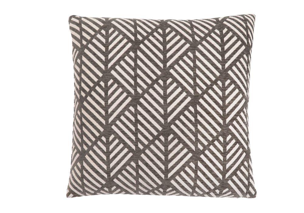 Monarch Specialties 18-inch x 18-inch Dark Taupe Geometric Design Pillow