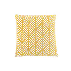 18-inch x 18-inch Yellow Geometric Design Pillow