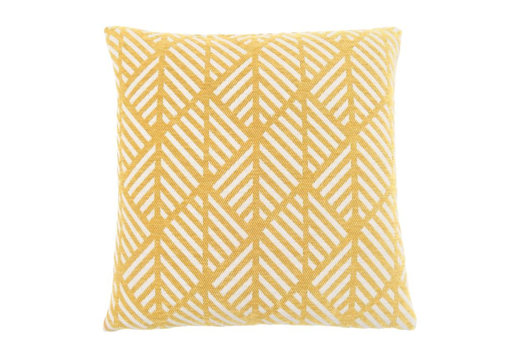 Monarch Specialties 18-inch x 18-inch Yellow Geometric Design Pillow