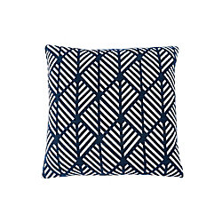 Monarch Specialties 18-inch x 18-inch Dark Blue Geometric Design Pillow
