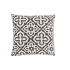 18-inch x 18-inch Dark Taupe Motif Design Pillow